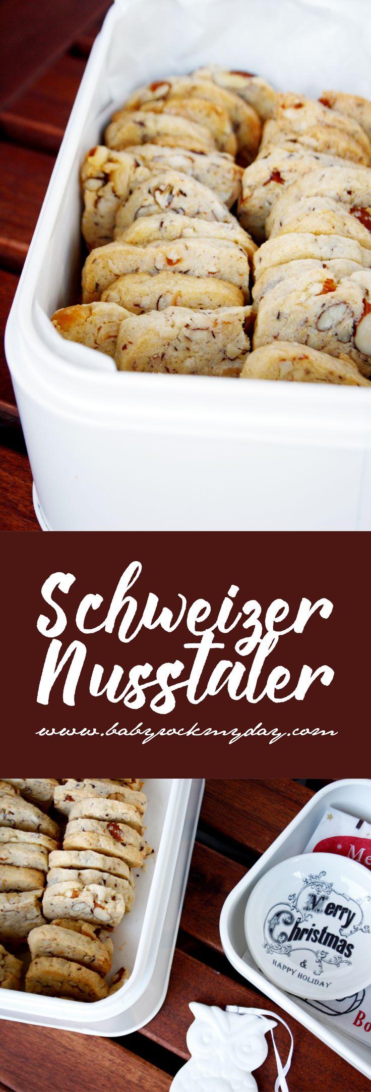 Schweizer Nusstaler sind die besten Begleiter in der Adventszeit. Rezept zu den leckeren Keksen auf www.babyrockmyday.com