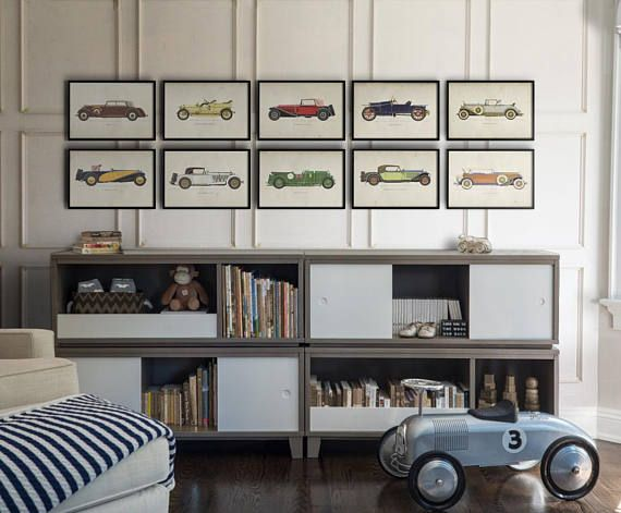 Car Art Prints Vintage Car Art Car Themed Room Antique Car