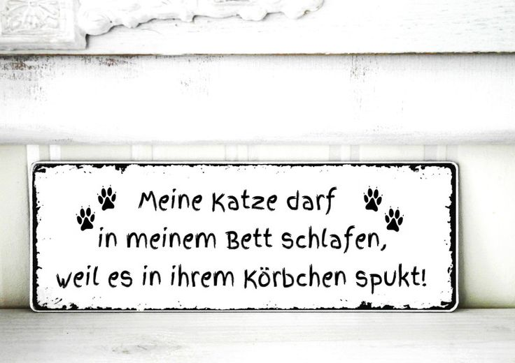 Tür- & Namensschilder - Shabby Vintage Schild KATZE - KÖRBCHEN Nostalgie - ein Designerstück von homestyle-accessoires bei DaWanda