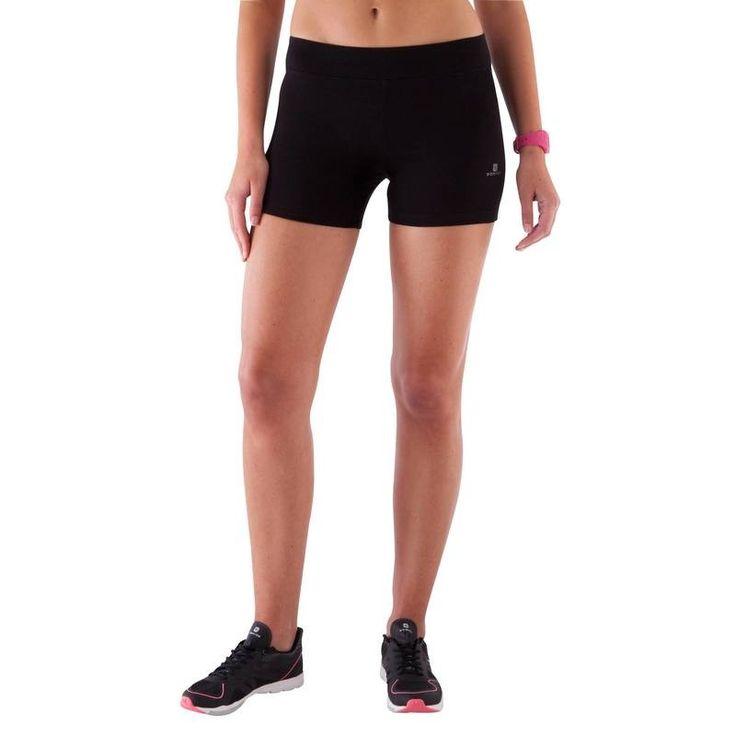 Short court slim Gym & Pilates femme noir FIT+