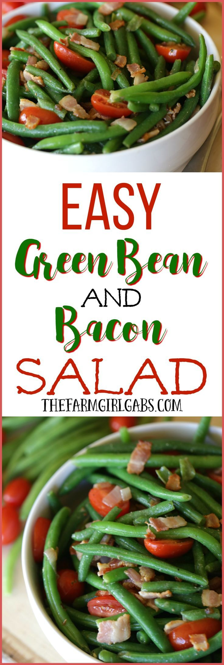 Are you planning the Ultimate Easter Menu? This Easy Green Bean And Bacon Salad is the perfect side dish recipe to enjoy any time of the year.