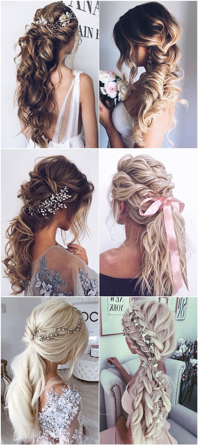 pinashley vassar on wedding hairstyles in 2019 | long