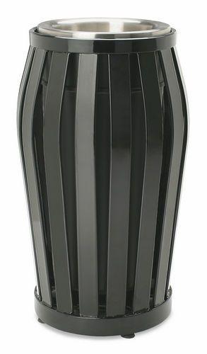 Cenicero pie bancada / acero / para exterior / para lugar público DYN-16  Victor Stanley