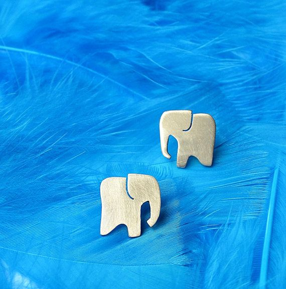 elephant cute post everyday jewelry stud earrings by annoushe