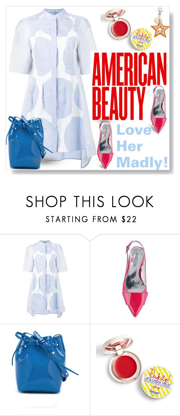 """""""Love Her Madly!"""" by mponte ❤ liked on Polyvore featuring STELLA McCARTNEY, Mansur Gavriel, Supergoop! and See by Chloé"""