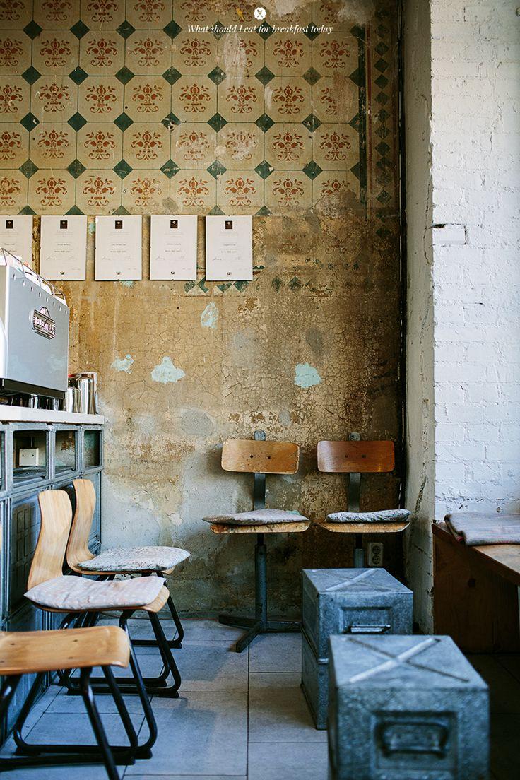 Eat Berlin - Nothaft Seidel Cafe by Marta Greber #destroyed #walls #coffee #berlin