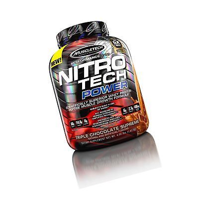 MuscleTech Nitro Tech Power Whey Protein Powder Musclebuilding Formula Triple...7  EAN - 0631656709582, UPC - 631656709582, Flavor - Triple Chocolate Supreme, Size - 4 Pound