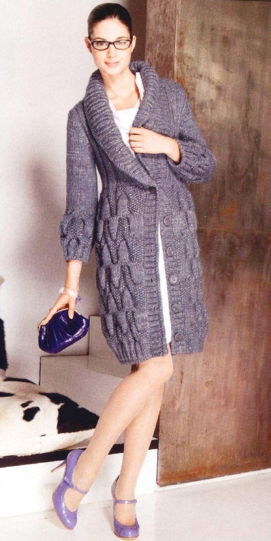 Coat, cardigan knitting