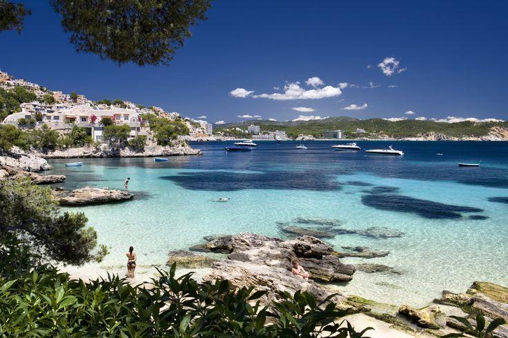 Calas de Fornells en Menorca (España)