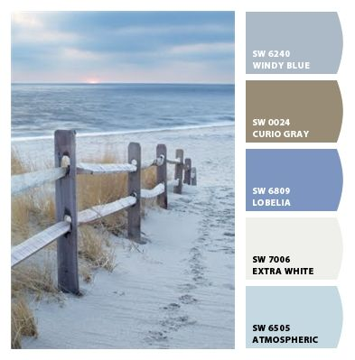 Just Beachy! -Paint colors from Chip It! by Sherwin-Williams