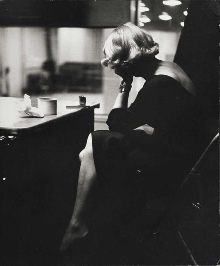 "© Eve Arnold, 1952, Marlene Dietrich, New York --- ""Marlene Dietrich at the recording studios of Columbia Records, who were releasing most of her songs she had performed for the troops during World War II. She was 51 years old and starting a come-back in show business. It was a wet and cold November night and work could only begin at midnight, at the advise of Marlene's astrologer."""