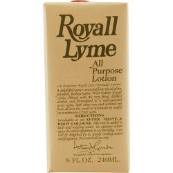 ROYALL LYME by Royall Fragrances by ROYALL LYME. $26.45. Royall lyme is a classic scent that was launched in 1957. The secret blend of spices from all over the world have lead this timeless classic that is zestful. Royall lyme can be used as after shave or a body cologne. AFTERSHAVE LOTION COLOGNE 8 OZ Design House: Royall Fragrances Year Introduced: 1957 Fragrance Notes: Lime Oil Blended With Rare Oils From All Over. Recommended Use: Casual. Save 56% Off!