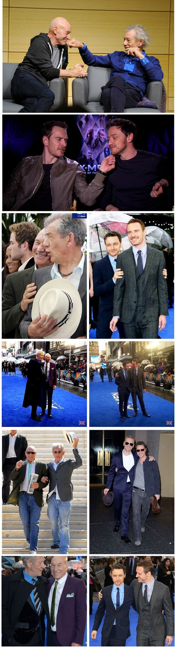 X-Men: Days of Future Past   James McAvoy, Michael Fassbender, Ian McKellen & Patrick Stewart