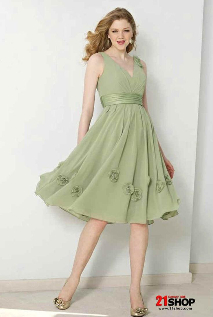 flowing dress 2 Tea length bridesmaid dresses