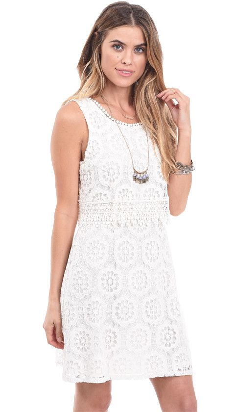 California Dreaming Crochet Lace Mini Dress