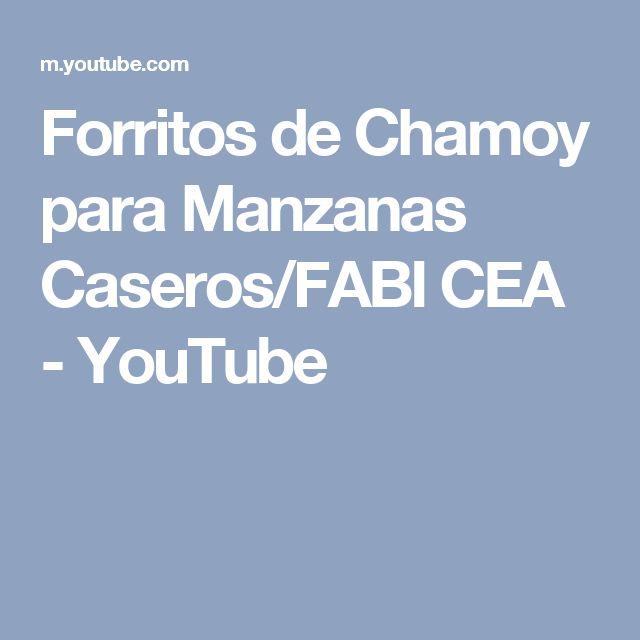 Forritos de Chamoy para Manzanas Caseros/FABI CEA - YouTube