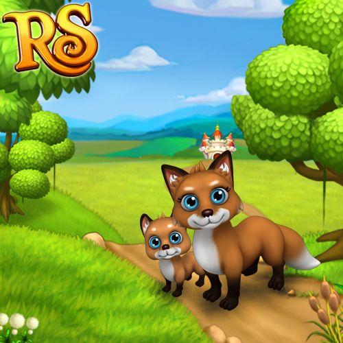 Blue-eyed foxes are what your Kingdom needs right now! #royalstorygame #royalzoo