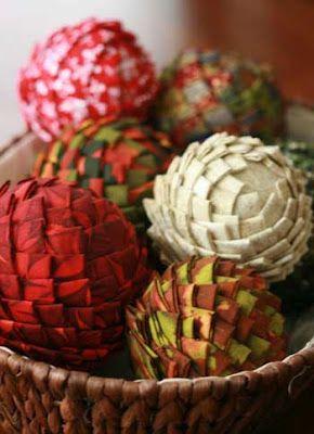 Manualidades Virshy: Esferas de telgopor decoradas en tela