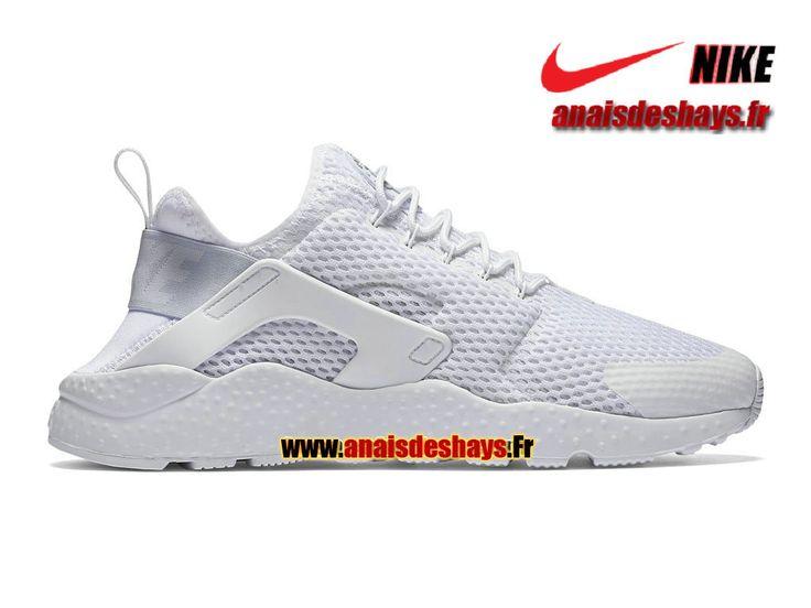 7d9fc1d9db1 ... Femme Chaussures Largement Ventes Romaparis248 Boutique Officiel Nike  Air Huarache Ultra Breathe Homme Blanc 833292-100H ...