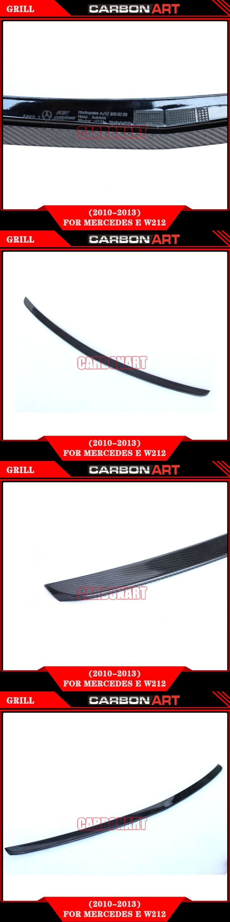 AM-G style glossy black color Mercedes W212 carbon rear spoiler trunk spoiler for mercedes E class W212 2010+