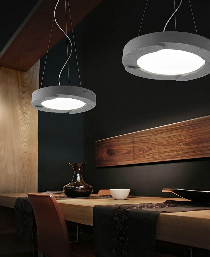 Sillux Memphis cement lámpabúrái különleges hangulatot teremtenek.