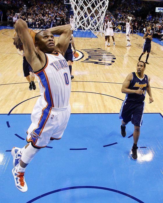 Westbrook top 3 guard in the NBA slammin on em!