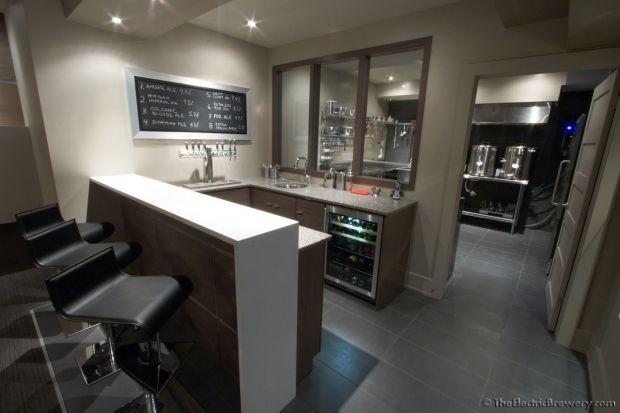 the perfect home bar / home brewery setup