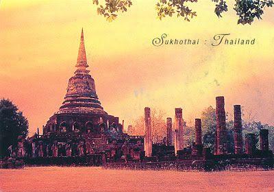 """THAILAND (Sukhothai) - Wat Mahathat - part of """"Historic Town of Sukhothai and Associated Historic Towns"""" (UNESCO WHS)"""