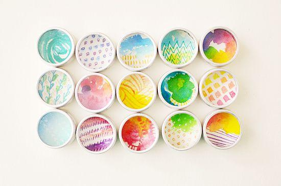 DIY: Watercolor Magnet Shadow Boxes