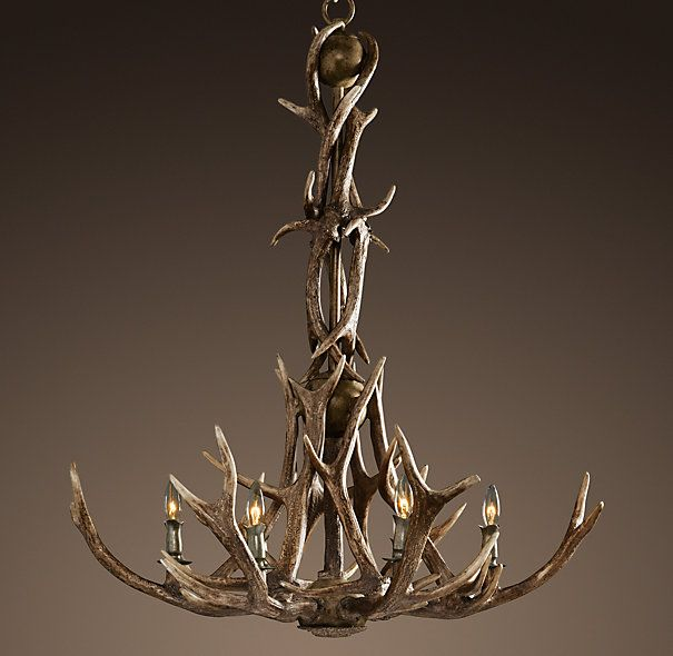 Well, I don't like hunting, so it won't be home made, but I do love the rustic charm of an antler chandelier. It will look great in the viewing area of my dream barn.