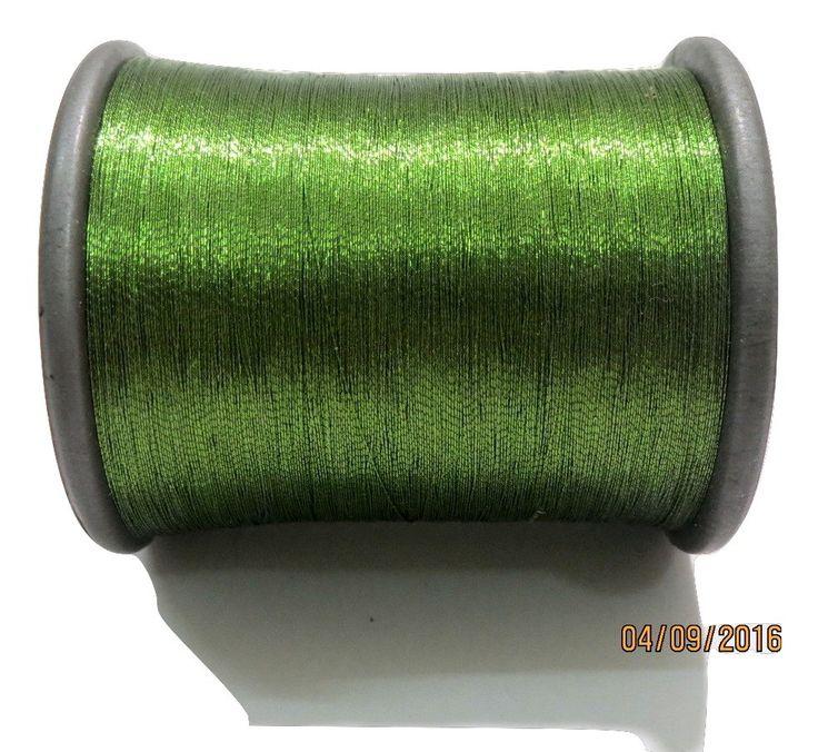 1 Spool Metallic Light Green Embroidery Thread, Hand/Machine Embroidery Thread…