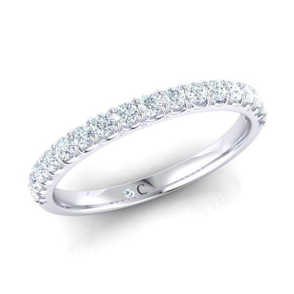 White gold half eternity diamond ring | Diamond Corporation South Africa