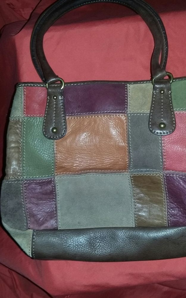 Vintage Fossil Leather Patchwork Purse  fashion  clothing  shoes   accessories  womensbagshandbags  ad (ebay link) 2e665b9ef34a8