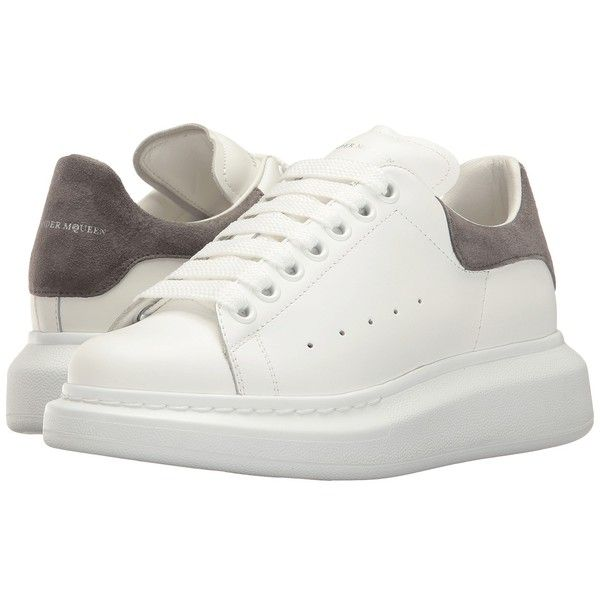 56452749ab6 Alexander McQueen Lace-Up Sneaker (White Silver Grey) Women s Lace up...  (2