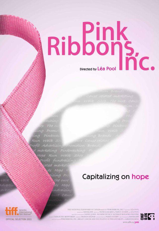 """Pink Ribbons Inc. är en dokumentär från National Film Board of Canada som visar hur förödande verkligheten av bröstcancer blir förvrängd av en rosa glänsande framgångssaga som marknadsföring experter kallar """"dröm orsak""""."""