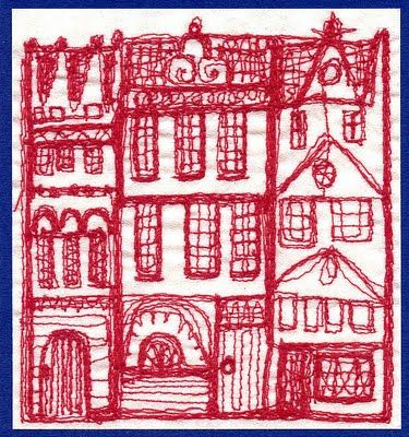 Free Machine Embroidery House