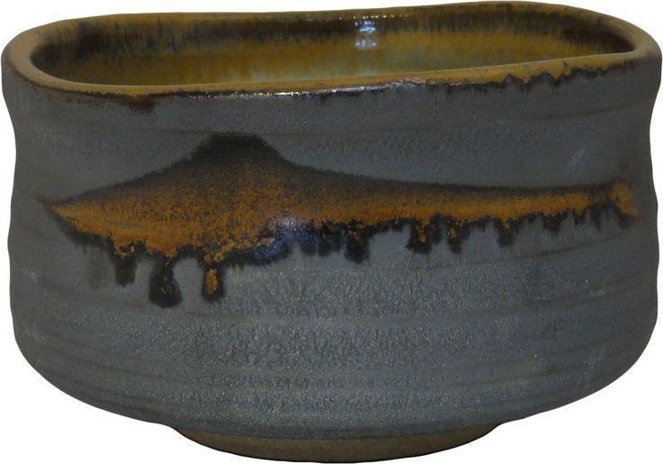 Blue grey matcha bowl
