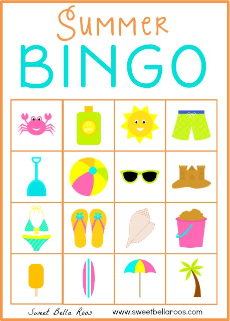 Image Result For Printable Bingo Cards
