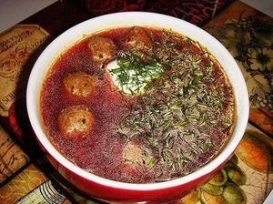 "Рецепт: Латышский суп с фрикадельками ""Виенс, диви, трис!"""