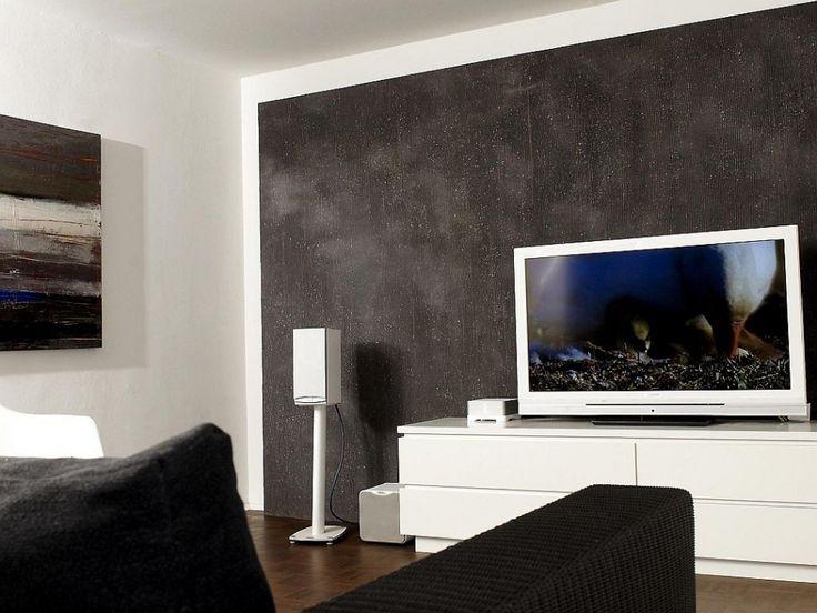 80 best Wohnwand images on Pinterest - wohnzimmer mit steinwand