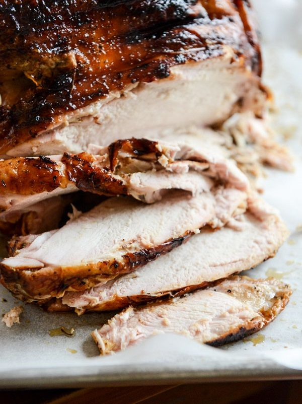 *Applewood Smoked Turkey Breast with Cider Bourbon Gravy and other Turkey…