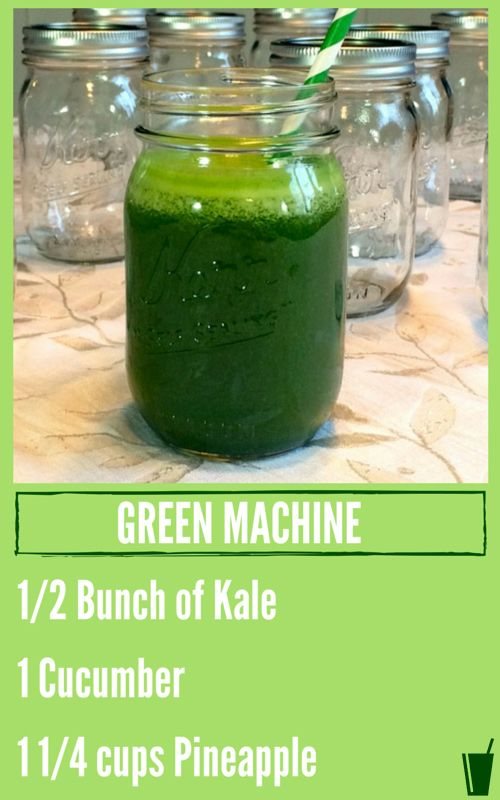 Green Machine Healthy Juice Recipe #Chrisfreytag #juicing #healthy