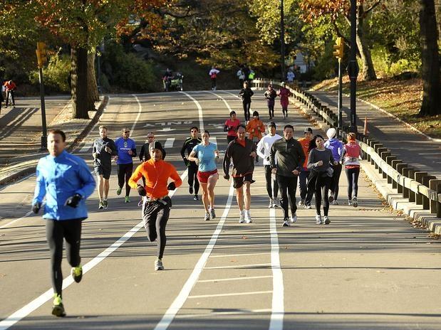 Com o cancelamento da maratona, corredores voltaram ao Central ParkFoto: Daniel Ramalho/Terra