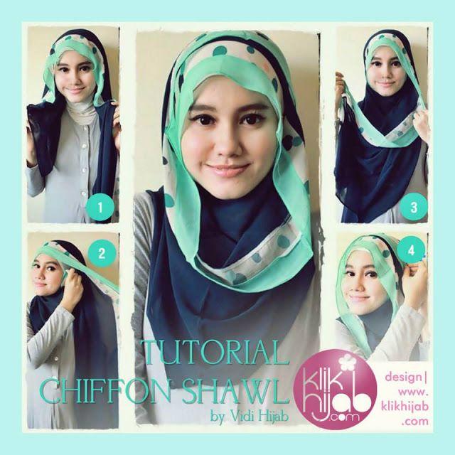 20+ ide Tutorial hijab mudah terbaik di Pinterest