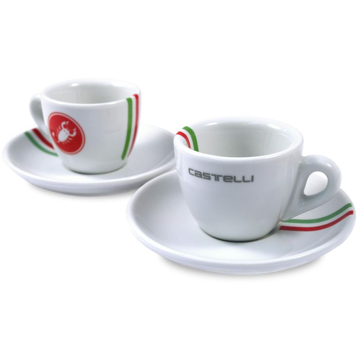 Castelli Cafe Castelli Espresso Cups - Castelli Themed Gift Ideas | Castelli Cafe UK