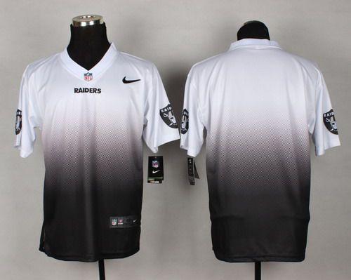 Nike Oakland Raiders Blank White Black Fadeaway Elite Jersey  456c2a4e1