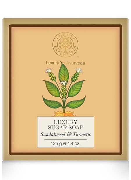 Forest Essentials Luxury Sugar soap sandalwood & turmeric
