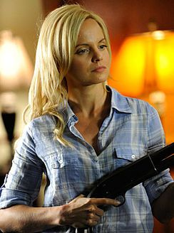 """Allison Cowley appears in """"Yang 3 in 2D """". She claimed to have been kidnapped by Yin, but was really his accomplice and apprentice. She is portrayed by Mena Suvari. In """"Yang 3 in 2D"""", she is kidnapped by the returned Yin and held in a house. She escapes the house and goes to the police. There she gives Shawn a picture of him and Yang together. At first Shawn is the only one to believe that she was kidnapped by Yin."""