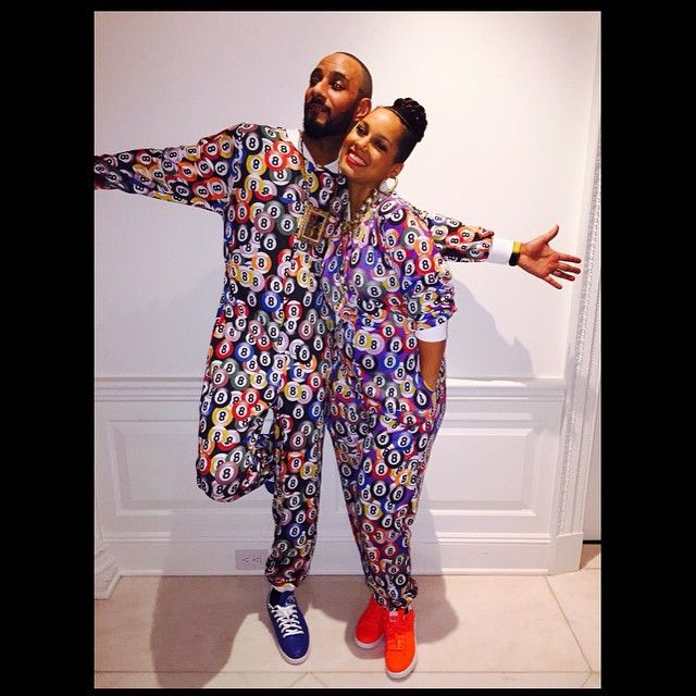 Alicia Keys and SwizzBeats-Worlds best Patna, husband, BFF and party planner!!!! ( 2nd to me shhhhh don't tell him!!) Thank you soooo much my love @therealswizzz for loving me on a whole other stratosphere #mygreatestinspiration!!!