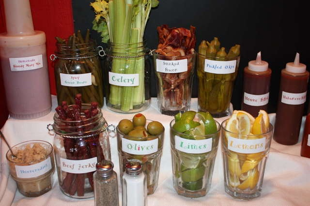 Bloody Mary Bar on Sunday mornings !!! New Year's Day party?